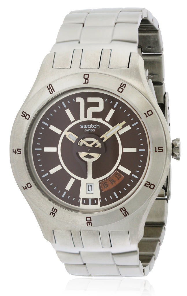 Swatch In A Brown Mode Mens   Watch