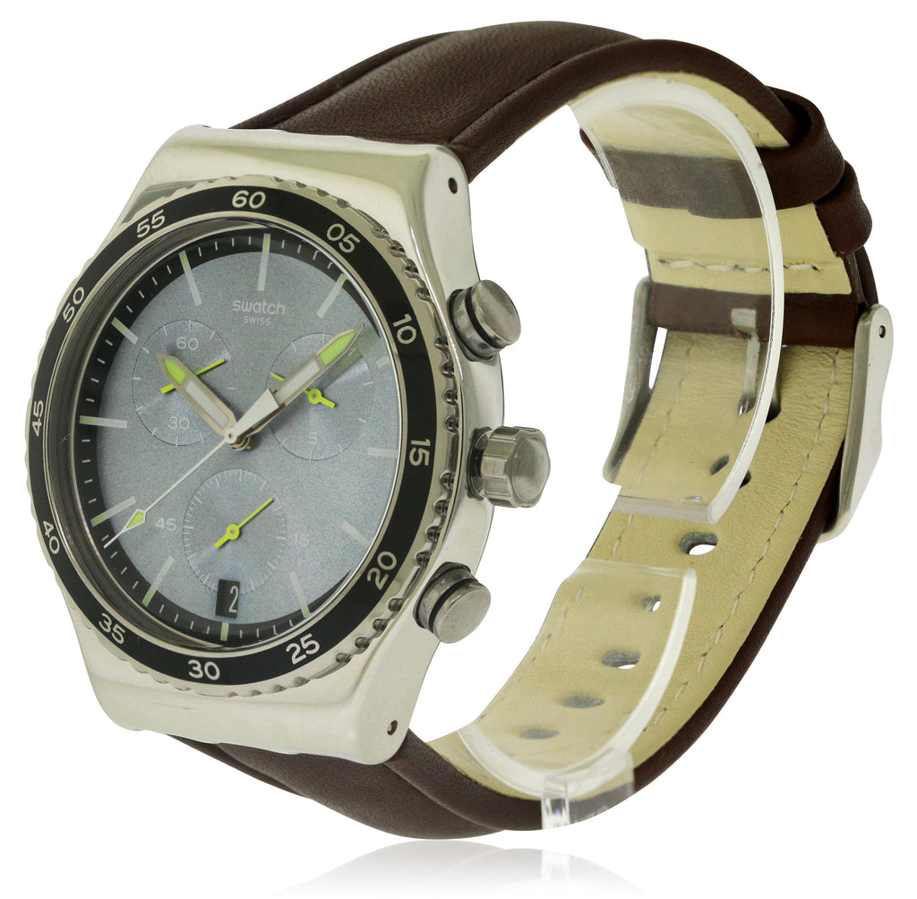 Swatch STOCK XCHANGE Leather Mens Watch