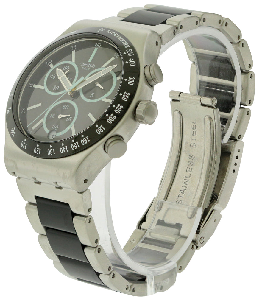 Swatch Ironfresh Stainless Steel Chronograph Mens Watch