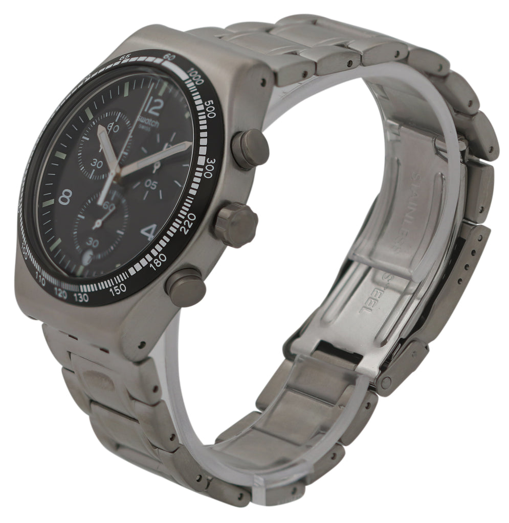 Swatch NIGHT FLIGHT Stainless Steel Chronograph Mens Watch