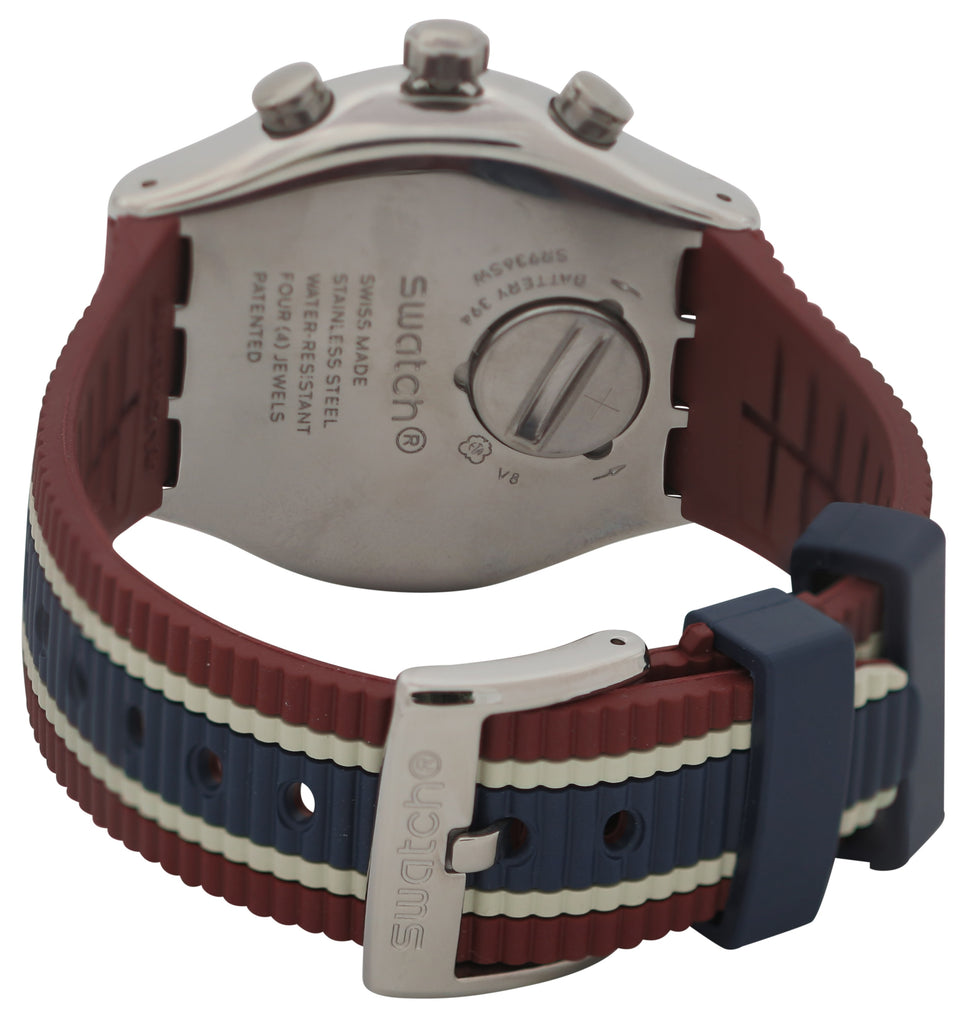 Swatch COLLEGE TIME Rubber Chonograph Mens Watch