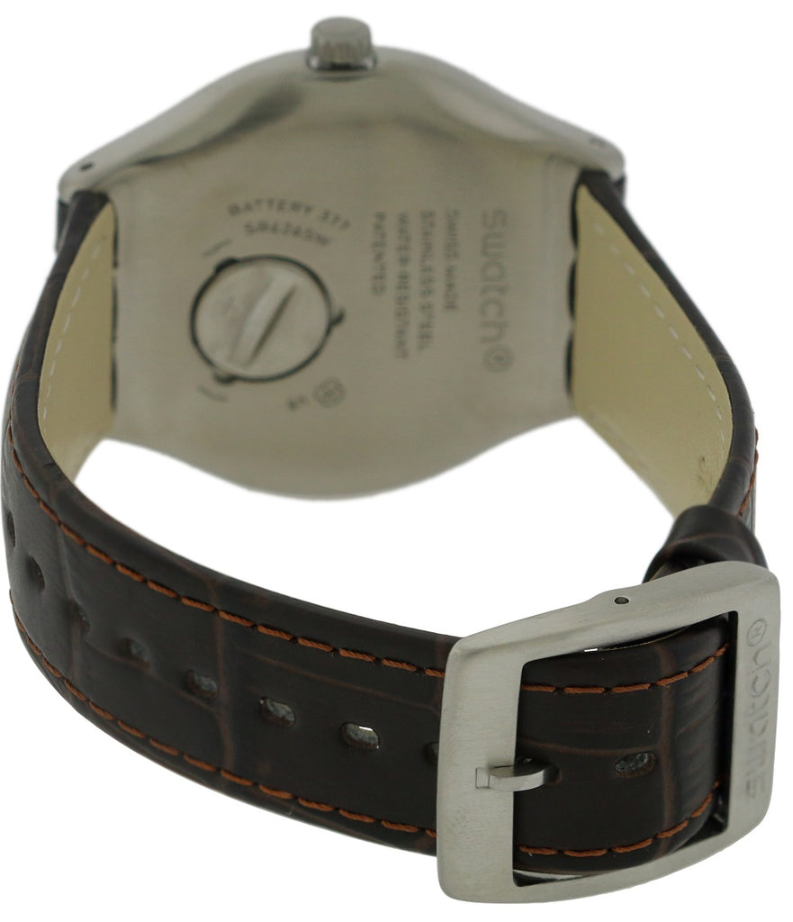 Swatch FOUR THIRTY Leather Mens Watch