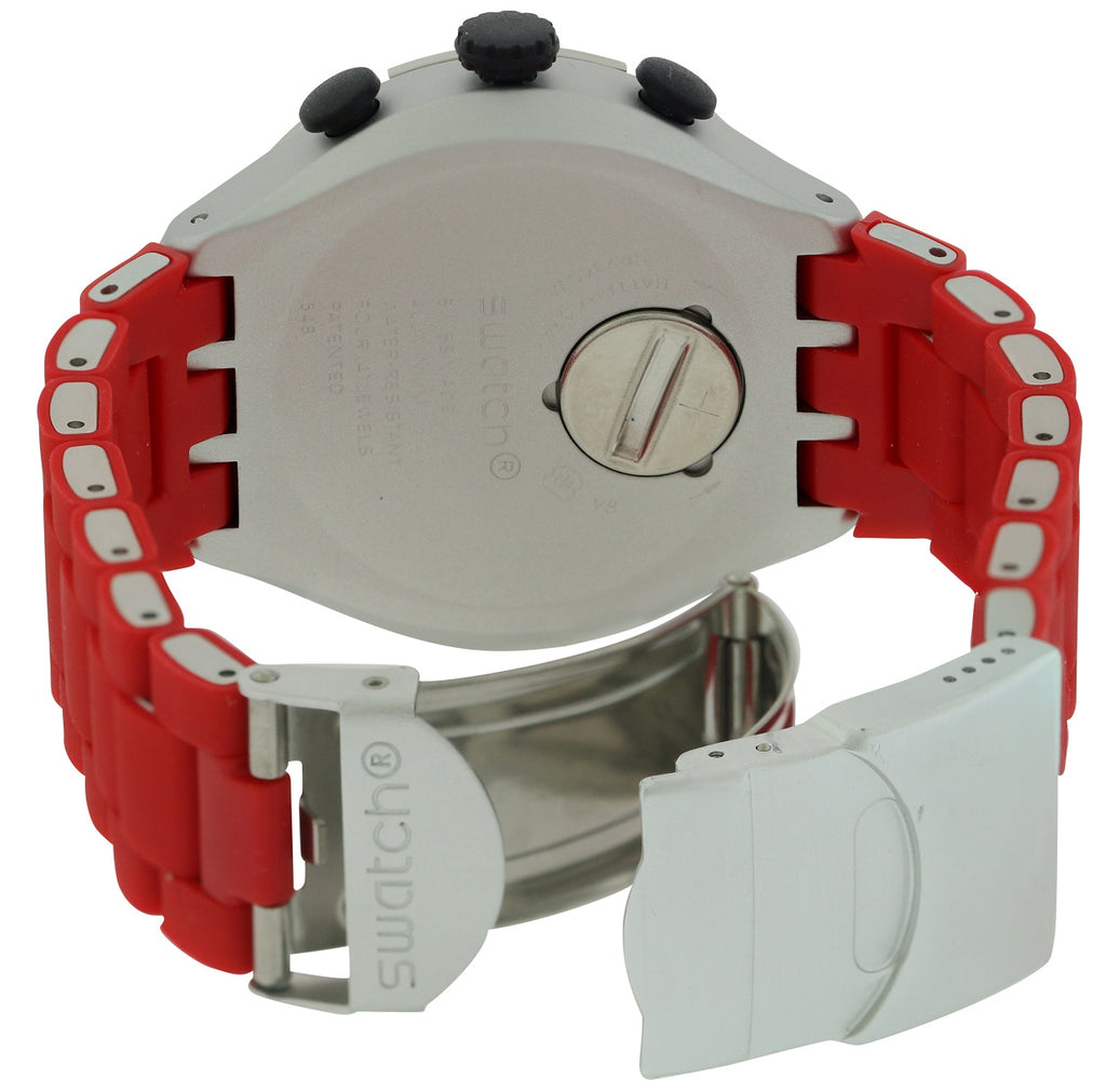 Swatch RED ATTACK Aluminium Chronograph Mens Watch