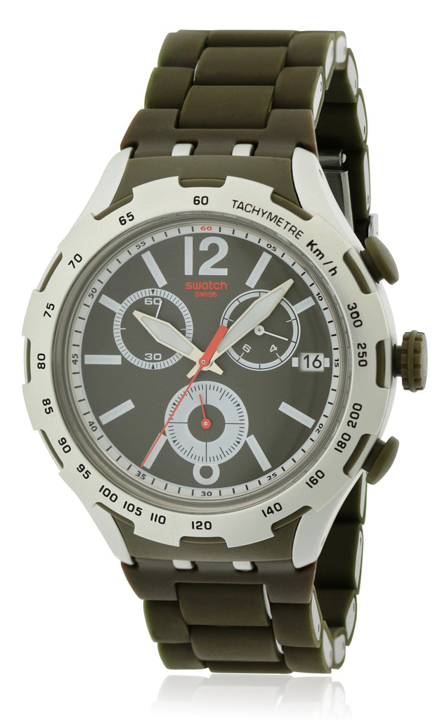 Swatch Green Attack Mens Watch