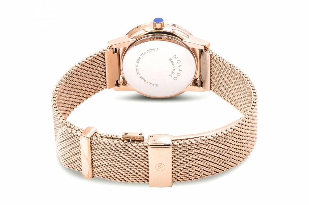 Movado Museum Classic Rose Gold-Tone Mesh Ladies Watch