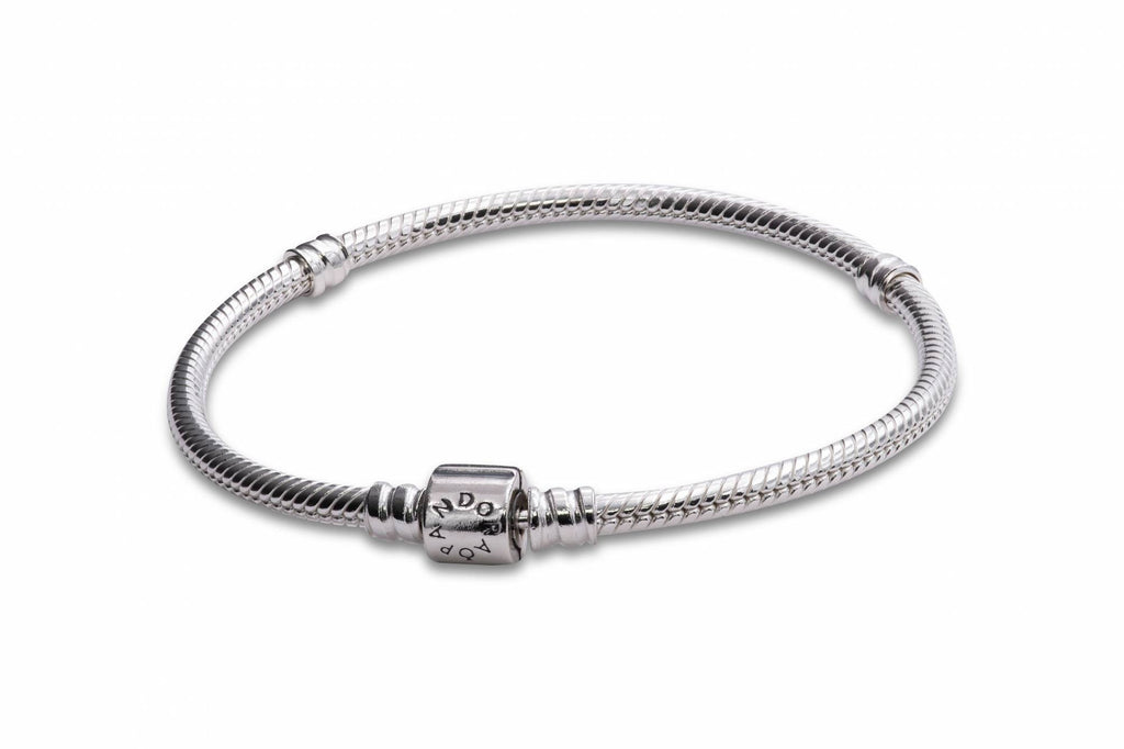 Pandora Moments Barrel Clasp Snake Chain Bracelet
