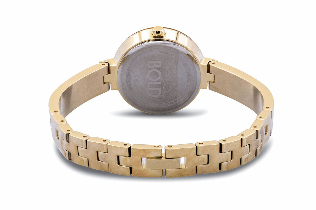 Movado Bold Gold-Tone Bangle Ladies Watch