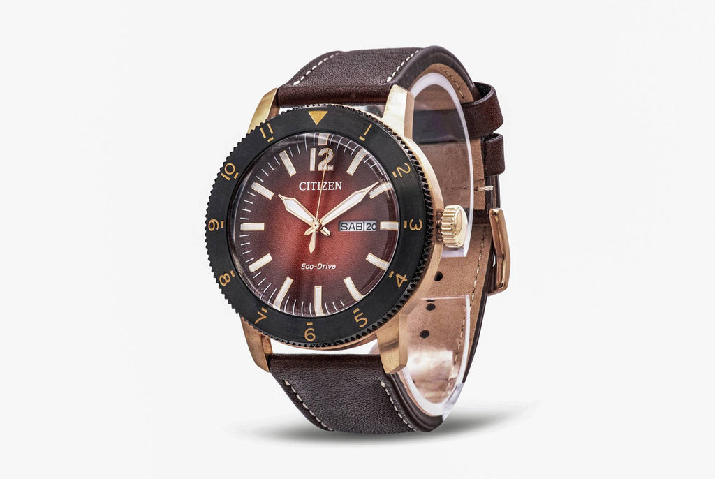 Citizen Eco-Drive Vintage Brycen Leather Mens Watch