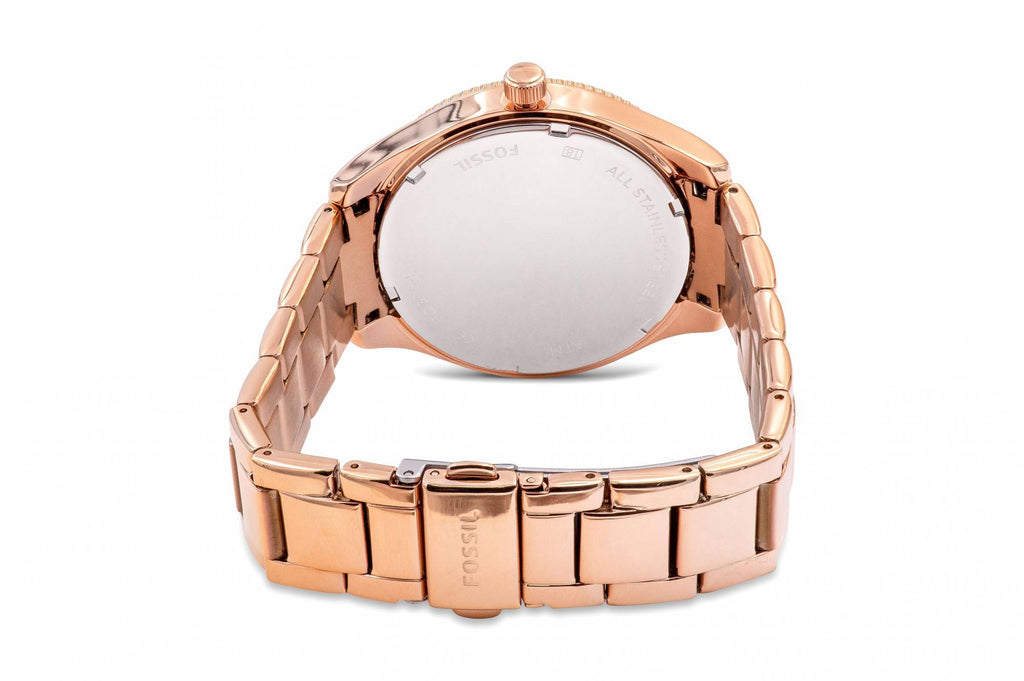 Fossil Typographer Rose Gold-Tone Ladies Watch