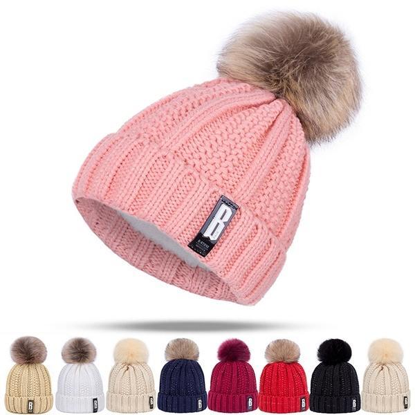 cc75b40d Winter Cotton Knitted Adjustable Soft Beanies Hats