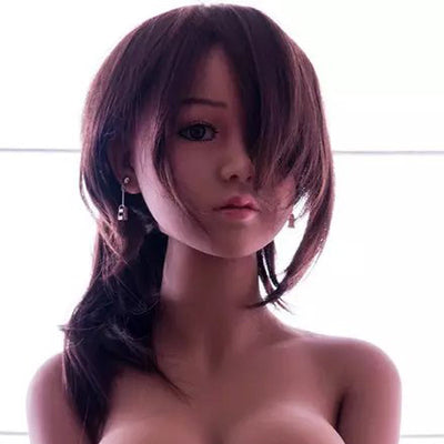 Top quality  Brown skin sex doll head for love doll, silicone sex dolls heads with oral sexy