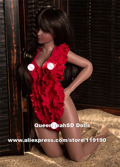 65cm Real Silicone Sex Dolls Black Love Dolls Japanese Anime Real Dolls