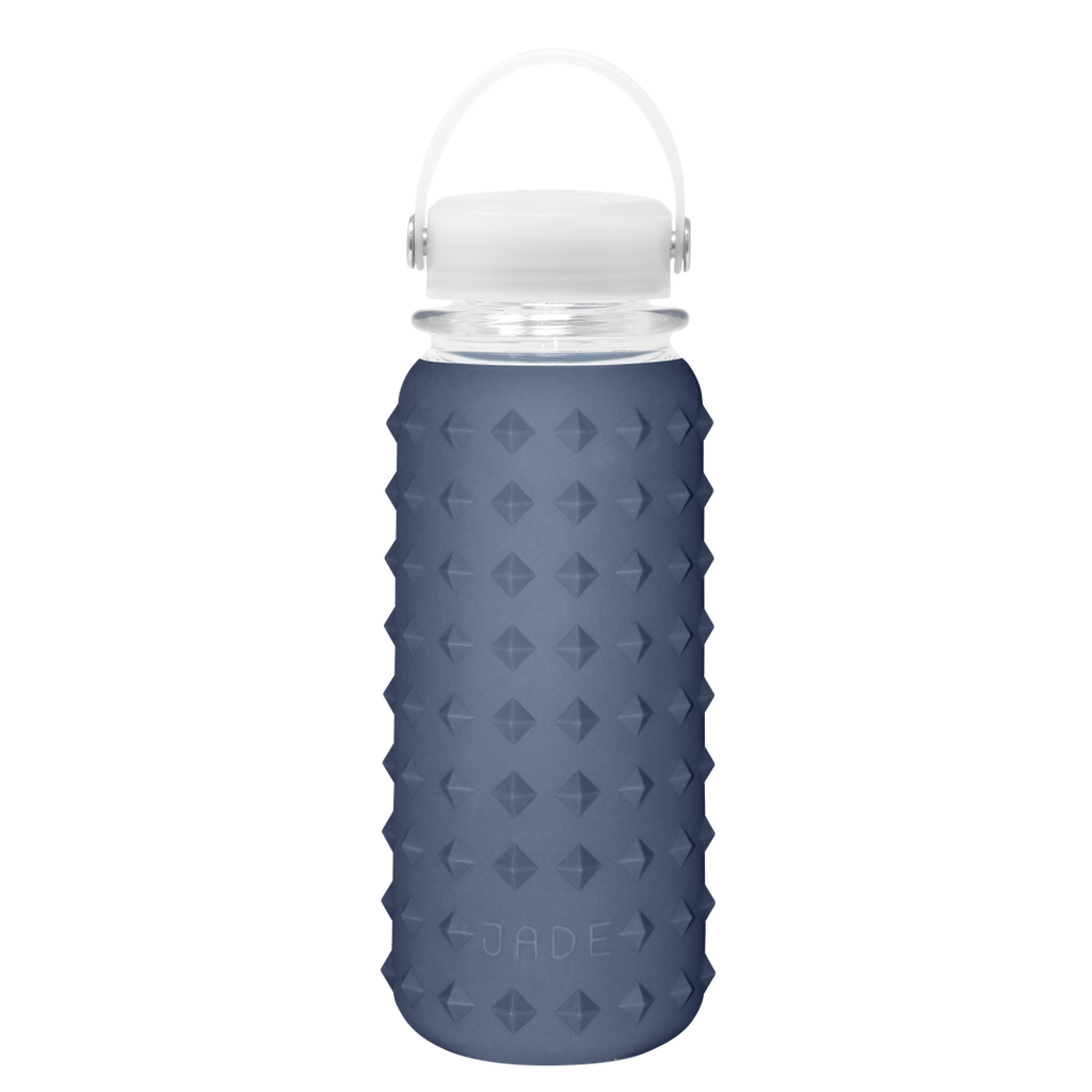 GLASS BOTTLE 30oz (NAVY BLUE)