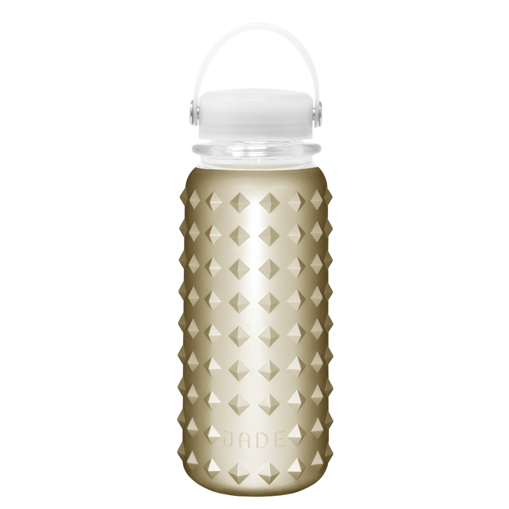 GLASS BOTTLE 30oz (RETRO GOLD)