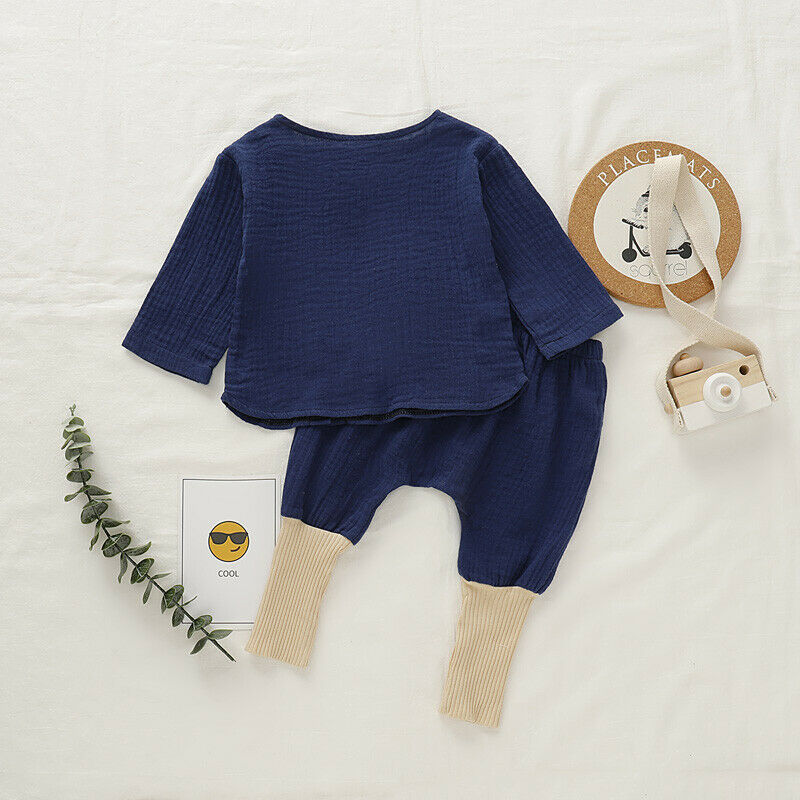 Cotton Long Sleeve Baby Set