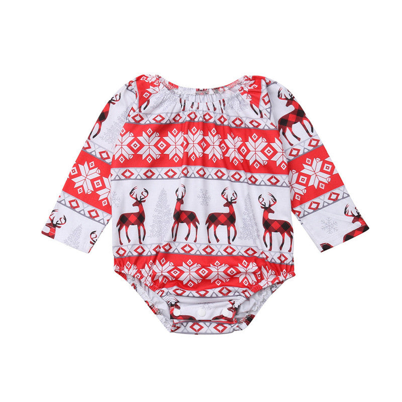 Vintage Print Holiday Jumper