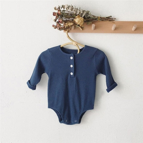 Cotton Buttonup Onesie Set