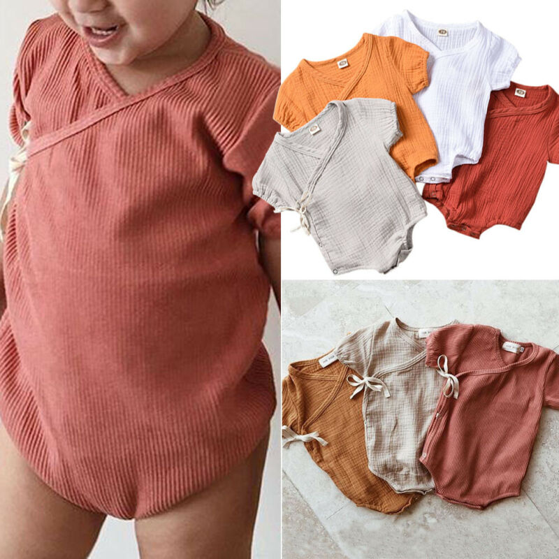Bohemian Natural Cotton Newborn Onesie