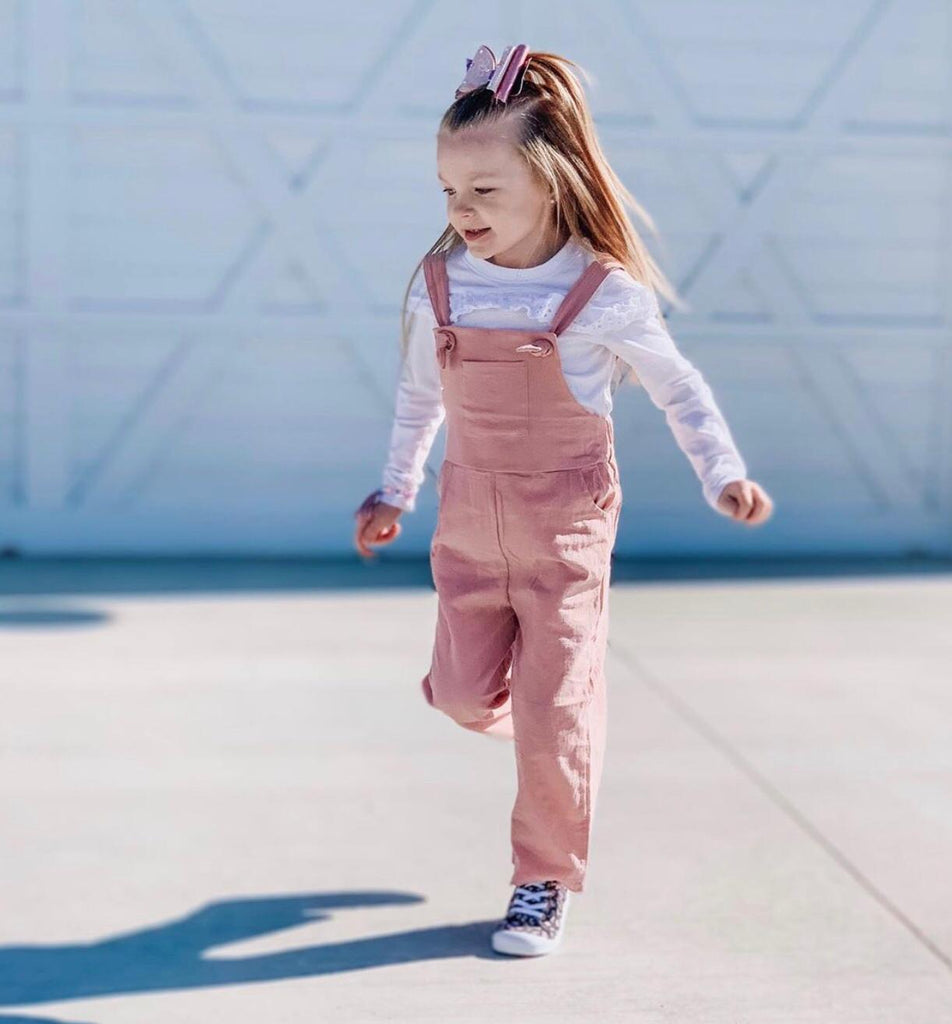 Kid's Natural Cotton Overalls