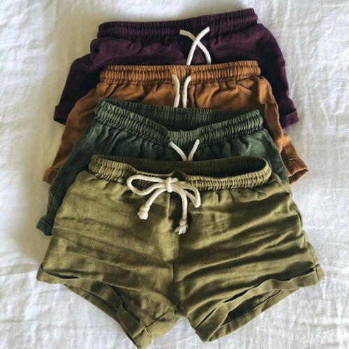 Kid's Harem Linen Shorts