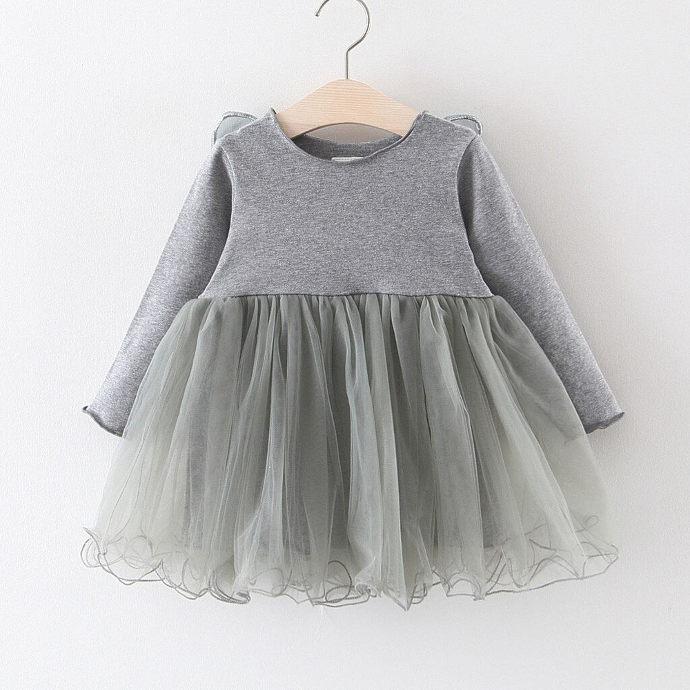 Grey Winged Pixie Girls Dress