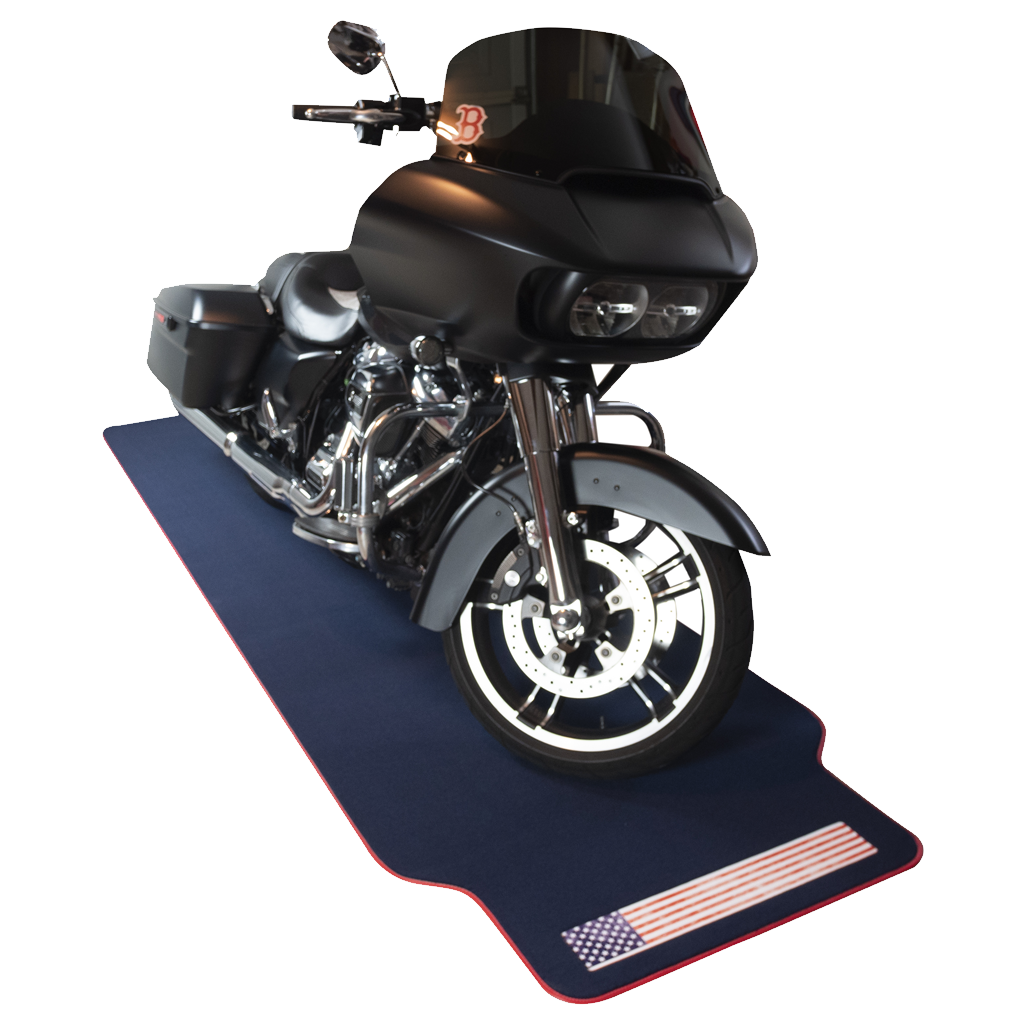 AMERICAN FLAG BLUE MOTORCYCLE MAT XL