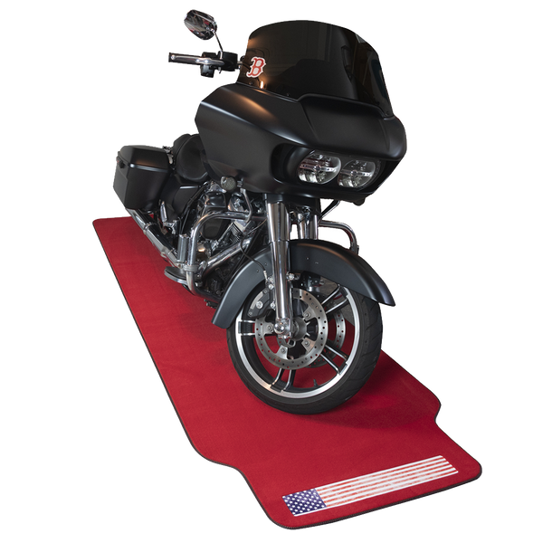 AMERICAN FLAG RED MOTORCYCLE MAT XL