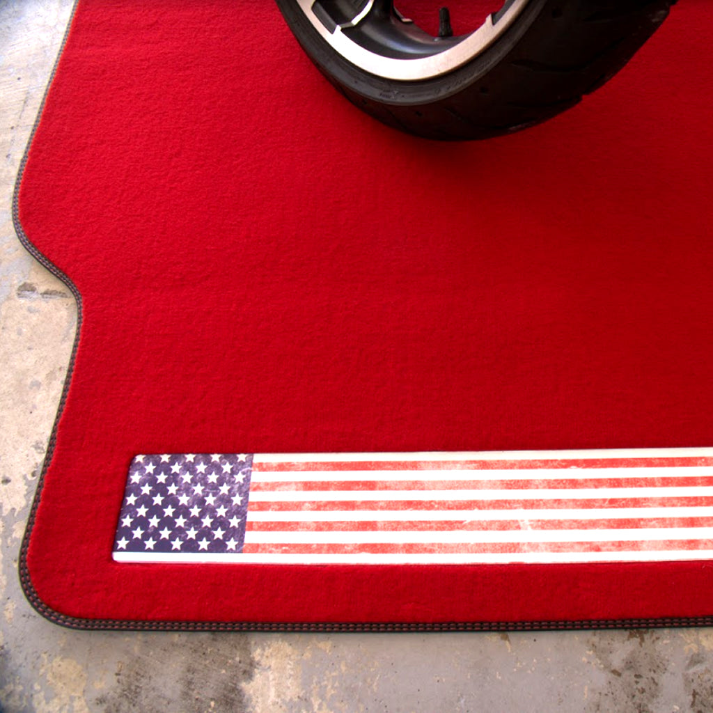 AMERICAN FLAG MOTORCYCLE MAT