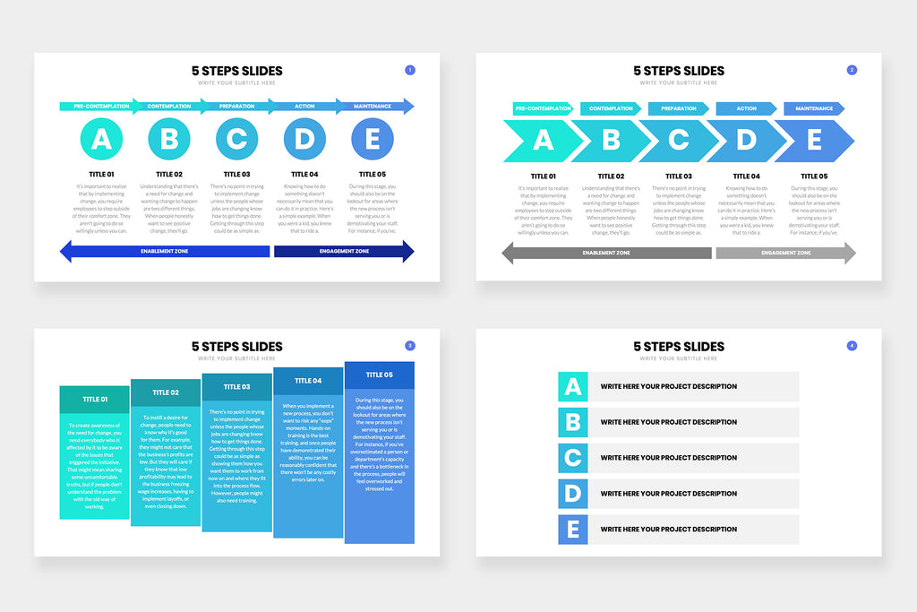 5 Steps Powerpoint Infographic Slides