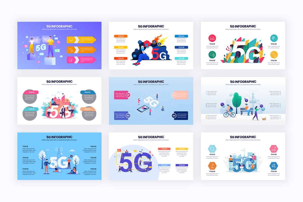 5G Infographic Templates