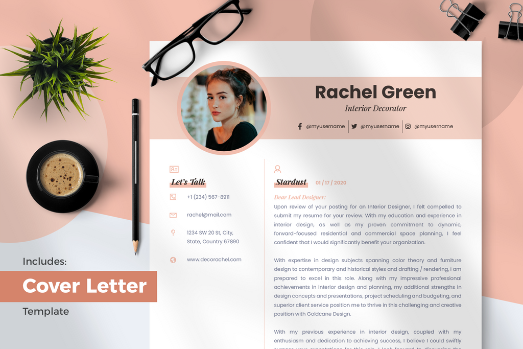 Aria Resume + Cover Letter Template