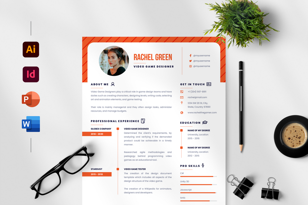 Ava Resume + Cover Letter Template