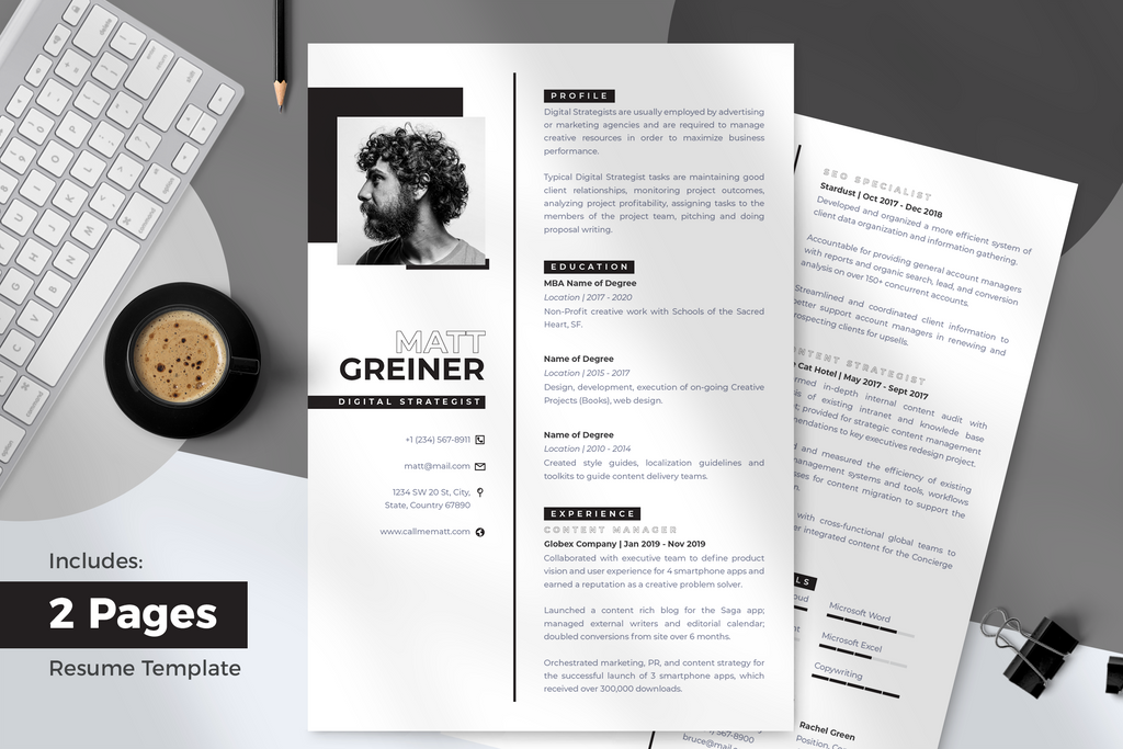 Lean Resume + Cover Letter Template