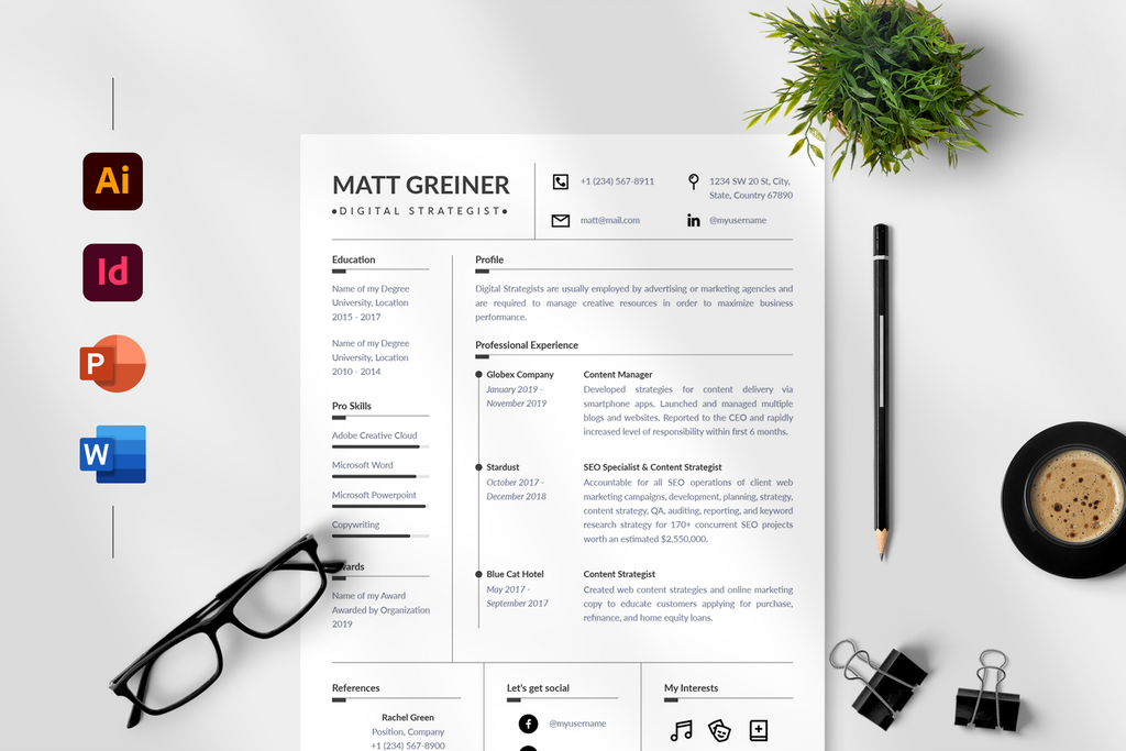 Matt Resume + Cover Letter Template