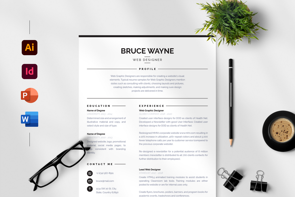 Mila Resume + Cover Letter Template
