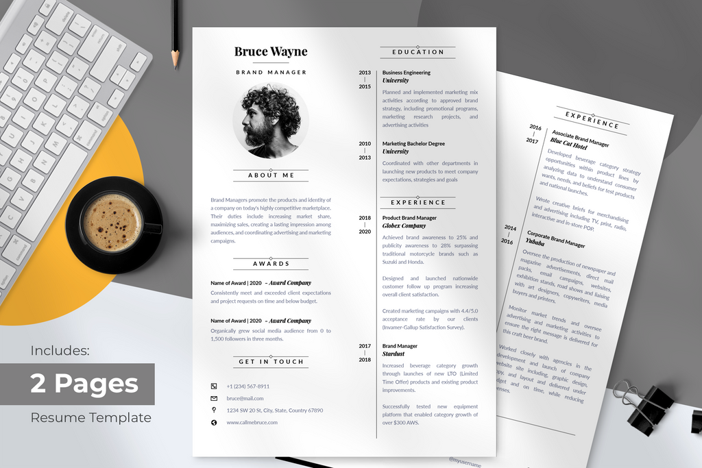 Otto Resume + Cover Letter Template