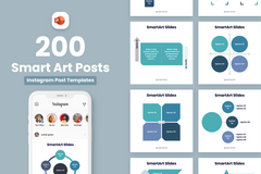 Square Smart Art Posts for PowerPoint