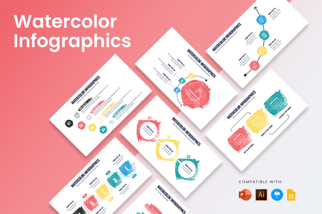 Watercolor Infographic Templates