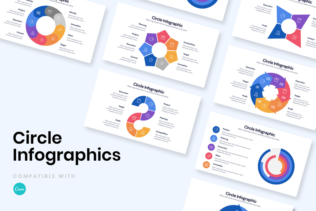 Circle Infographics for CANVA