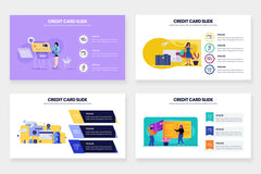 Credit Card Infographics for PowerPoint, Keynote, Google Slides and Illustrator