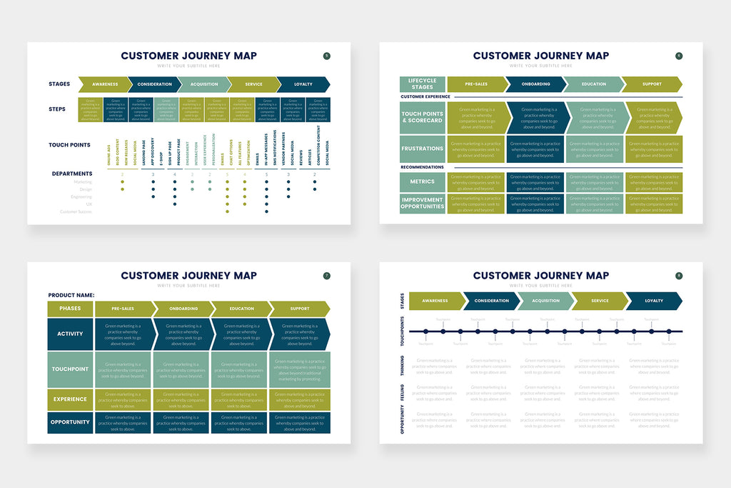 Customer Journey Map Infographics