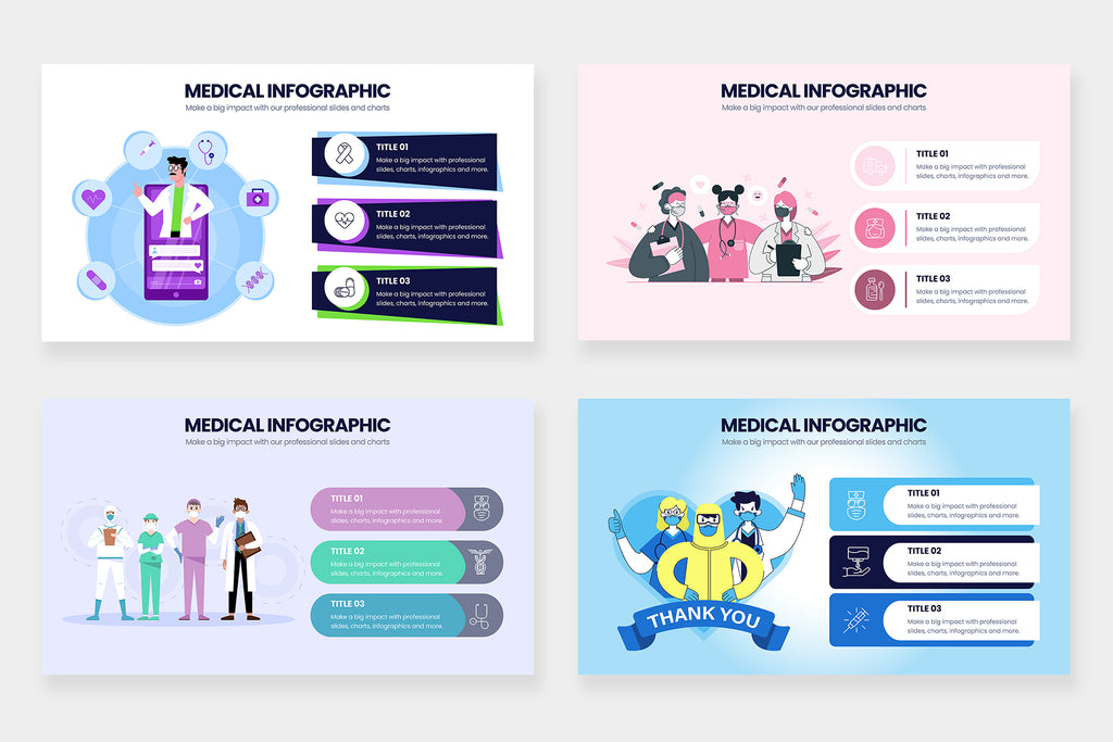 Medical Infographics for PowerPoint, Keynote, Illustrator and Google Slides