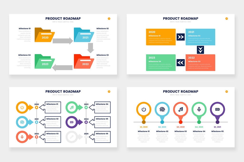 Product Roadmap Infographics