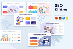 SEO Infographics for PowerPoint, Keynote, Google Slides and Illustrator