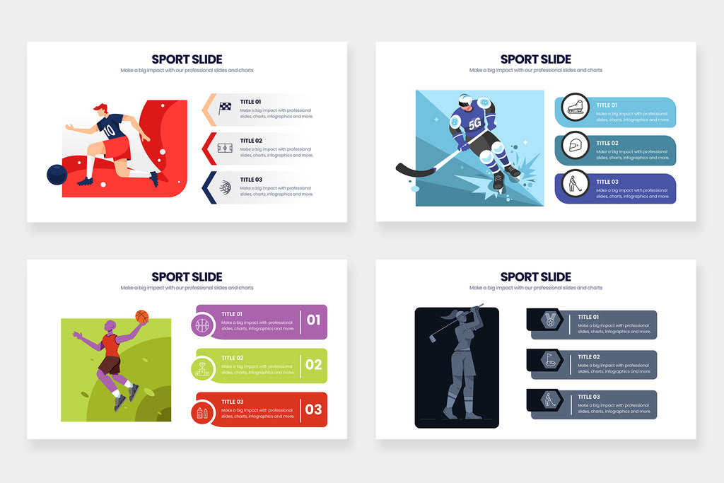 Sport Infographics for PowerPoint, Keynote, Illustrator and Google Slides