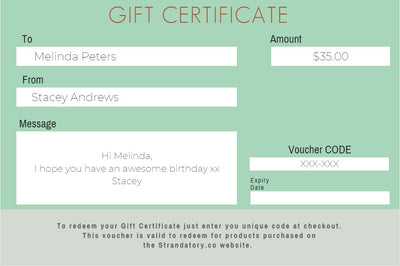 Gift Card Certificate - Strandatory | Natural Dry Shampoo