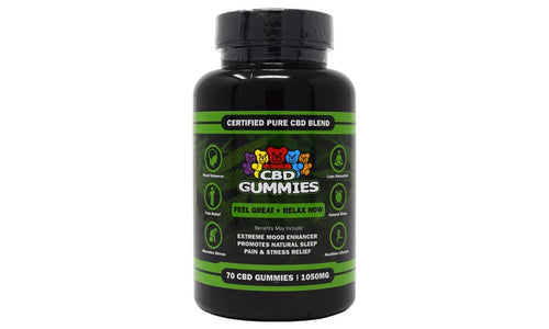 HEMP BOMBS CBD GUMMIES - 70ct (1050mg)