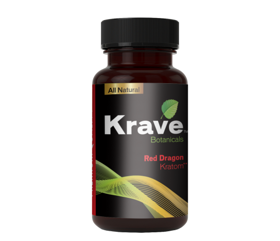 KRAVE BOTANICALS KRATOM CAPSULES - RED DRAGON