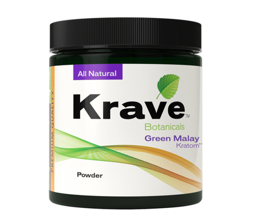 KRAVE BOTANICALS KRATOM POWDER - GREEN MALAY