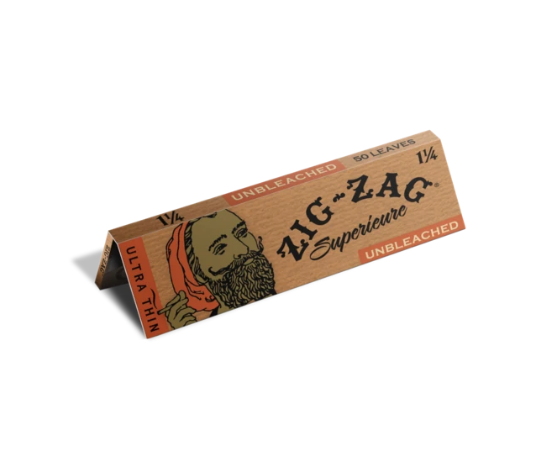 ZIG ZAG ROLLING PAPER - UNBLEACHED 1 1/4